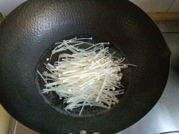 黄瓜金针菇拌蛋丝的做法图解