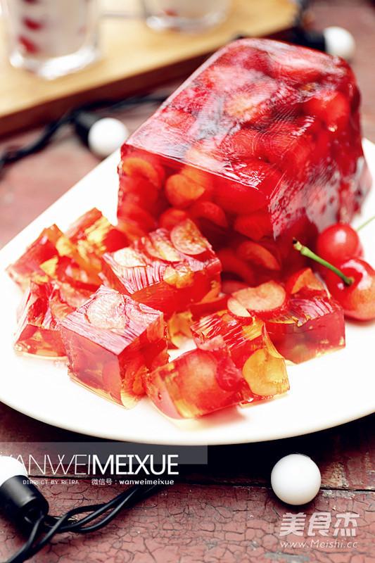 樱桃酒味果冻成品图