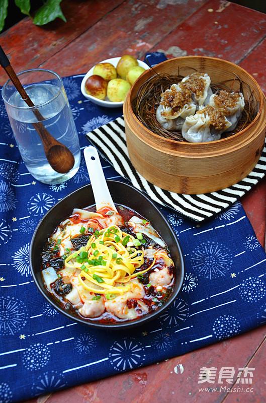 鲜虾红油抄手怎么煮