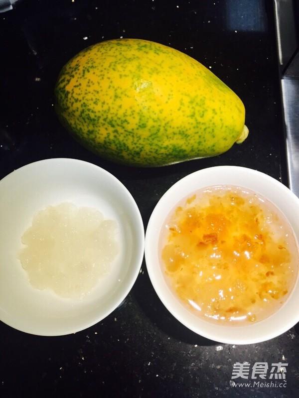 木瓜炖雪蛤桃胶的做法大全