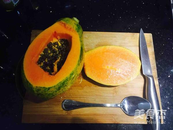 木瓜炖雪蛤桃胶的家常做法