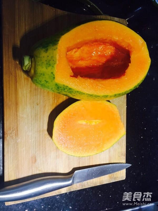 木瓜炖雪蛤桃胶的简单做法