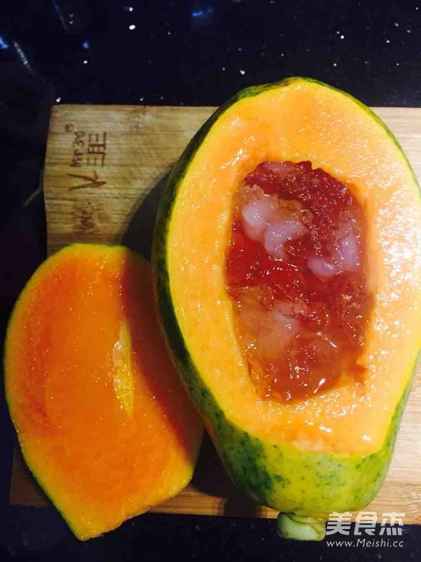 木瓜炖雪蛤桃胶怎么吃