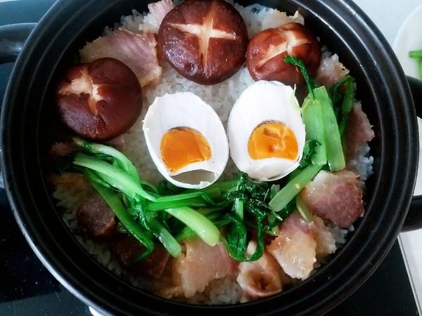 腊肉香菇煲仔饭怎么煮