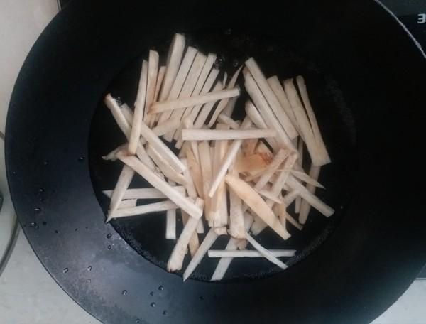 杏鲍菇炒肉丝的简单做法