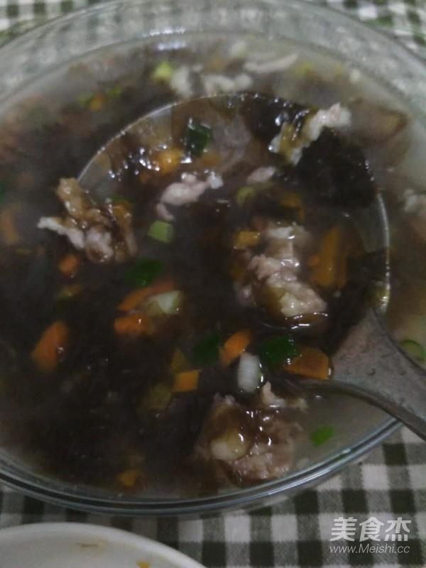 红萝卜紫菜汤成品图
