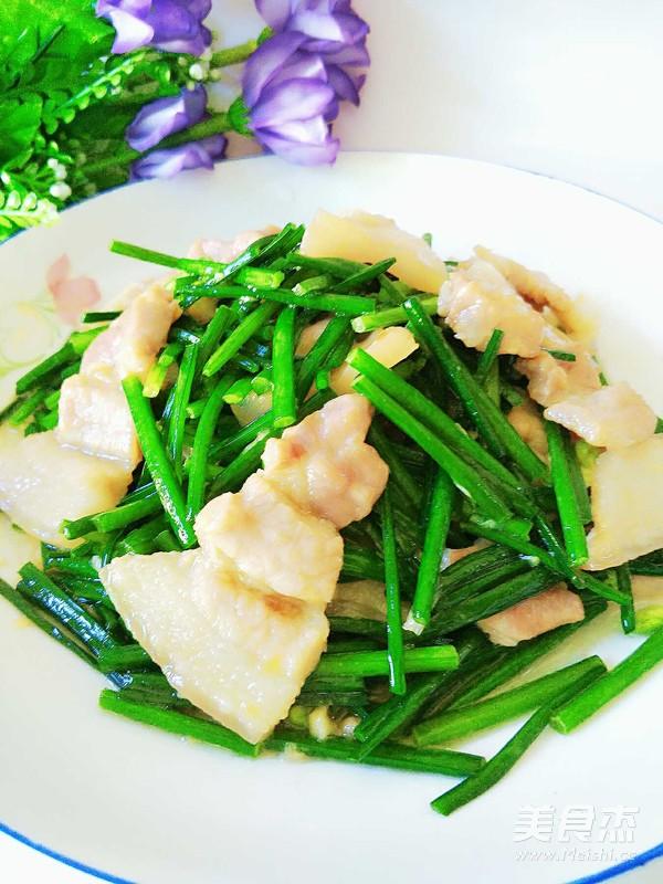 五花肉炒韭苔怎么煮