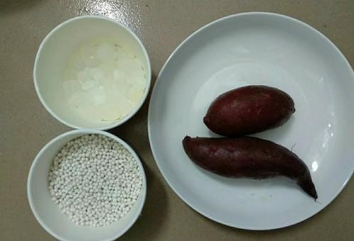 紫薯西米露的步驟