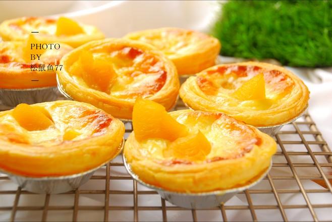 黄桃蛋挞的制作