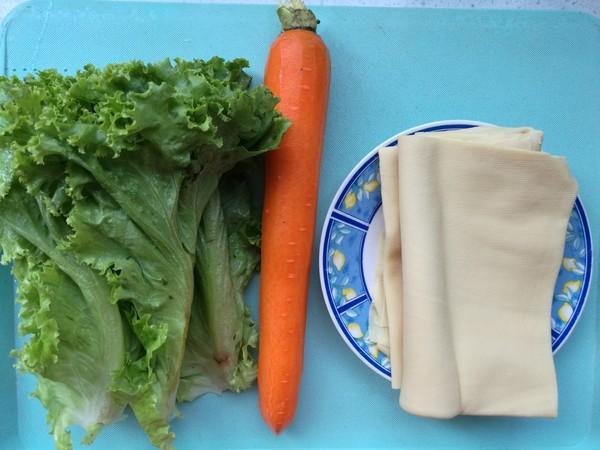 豆皮生菜卷的做法大全