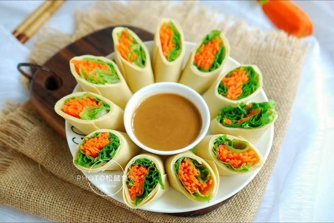 豆皮生菜卷怎么炒