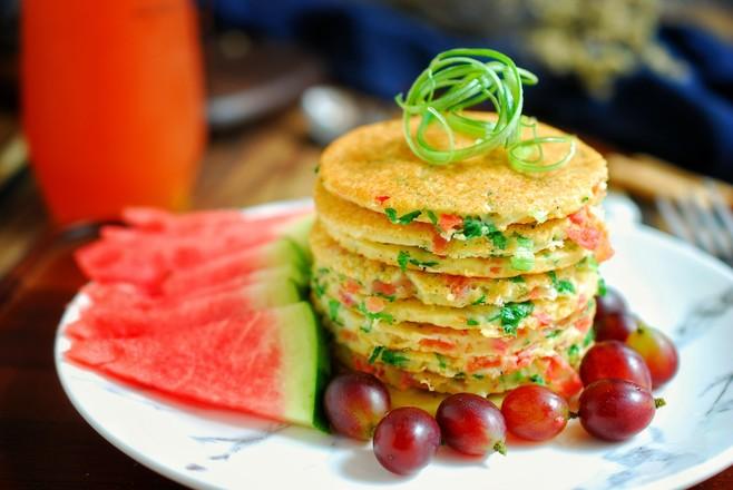 西红柿鸡蛋饼怎么煸