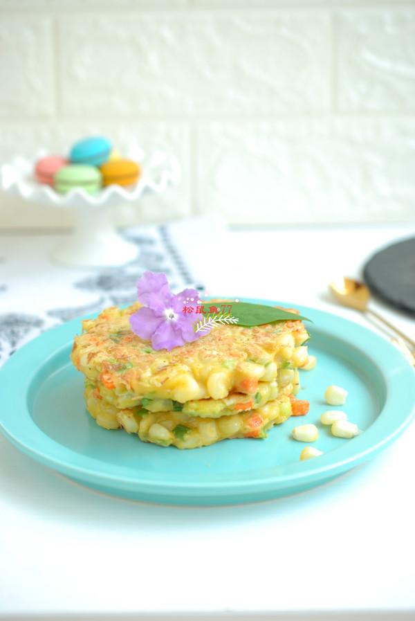 玉米鸡蛋饼成品图