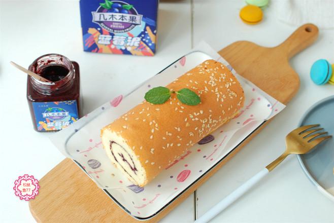 蓝莓蛋糕卷怎样做