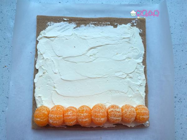 橘香蛋糕卷怎么煸
