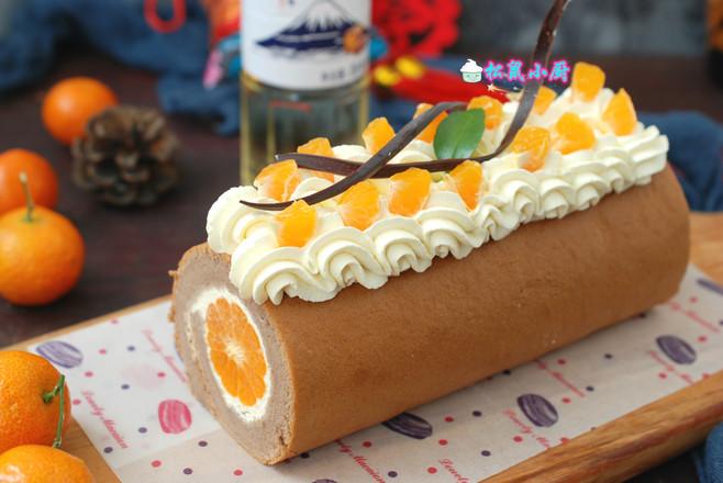 橘香蛋糕卷怎样煸