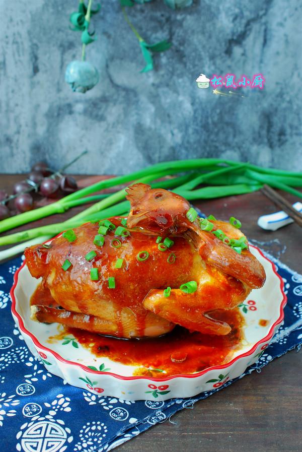 电饭煲焖鸡成品图