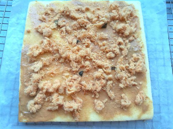 花生酱肉松蛋糕卷怎样做