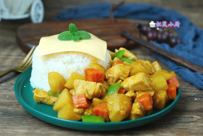 咖喱芝士鸡肉饭怎样做