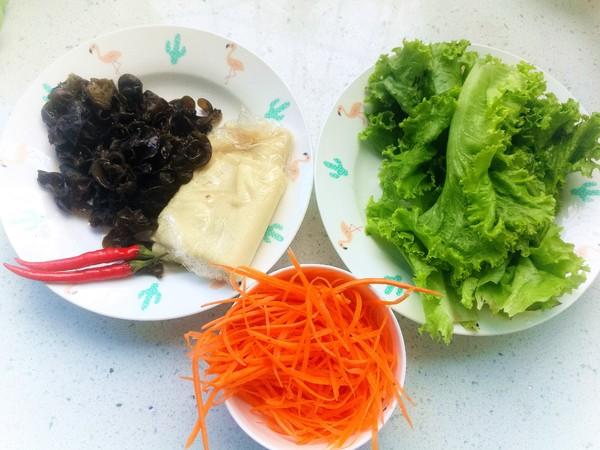 美味减脂菜——生菜拌豆皮的做法大全
