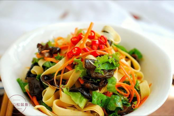 美味减脂菜——生菜拌豆皮怎么炒