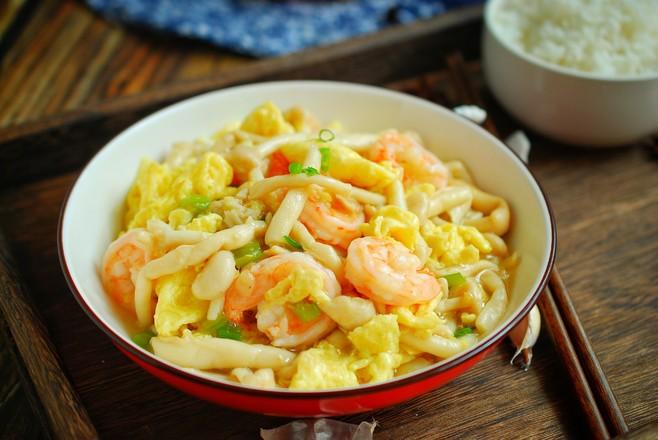 虾仁鸡蛋炒鲜蘑怎么煮