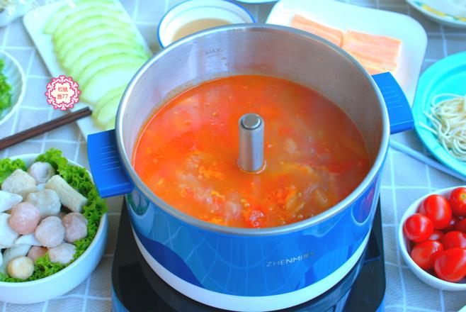 海底捞番茄锅底怎么吃