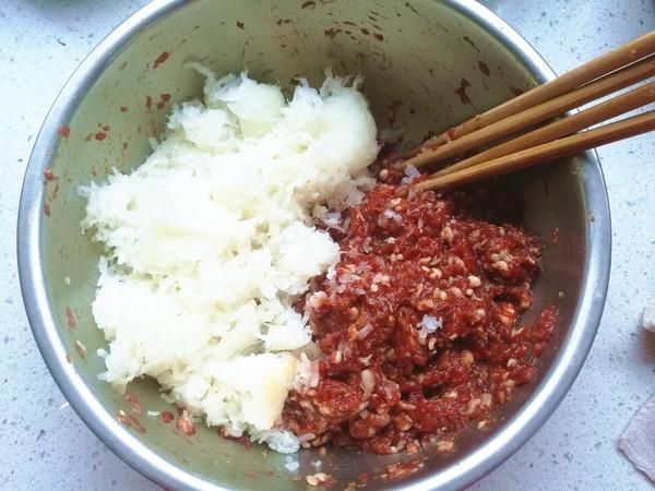 白萝卜牛肉饺子的家常做法
