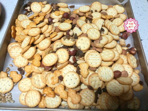过年零食必备的可可雪花酥,做法很简单的做法图解