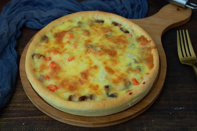 自己做披萨,简单省事儿,香软拉丝怎么煸