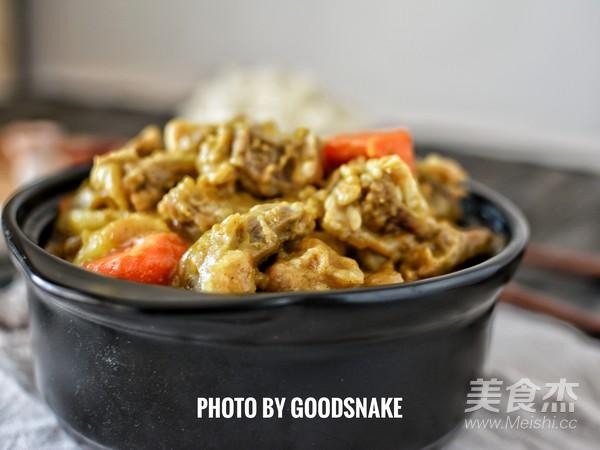 日式咖喱牛腩成品图