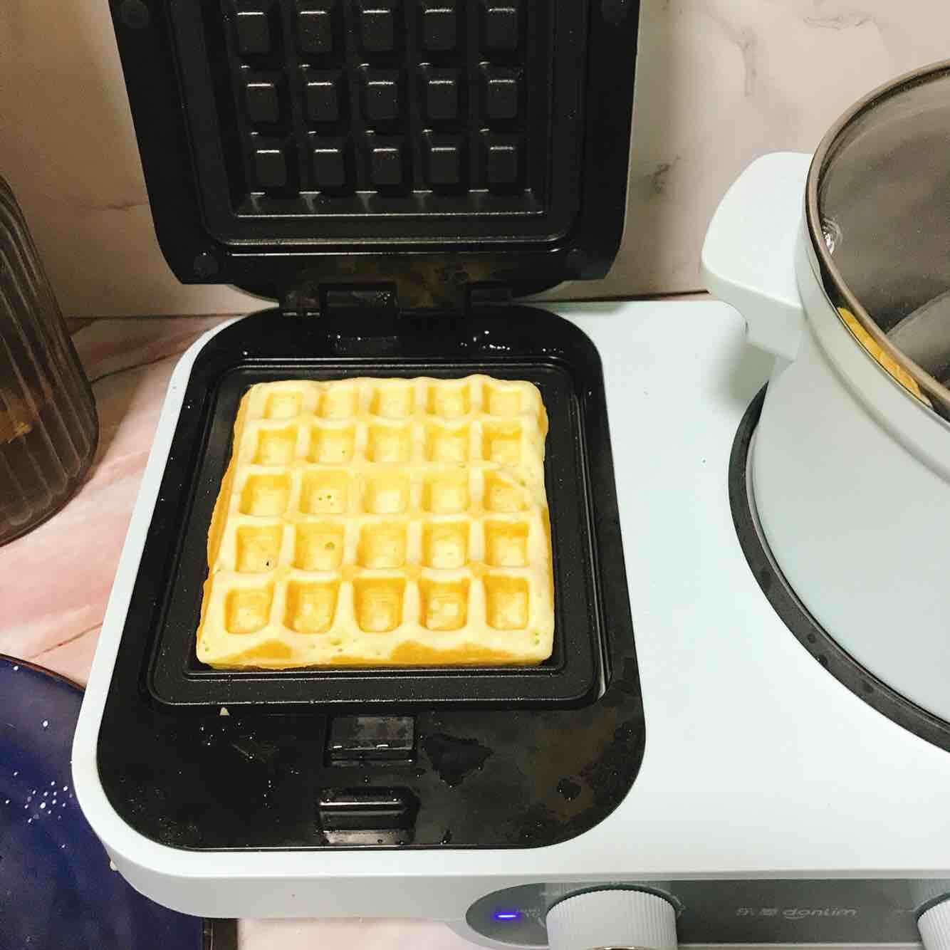 椰香华夫饼的家常做法