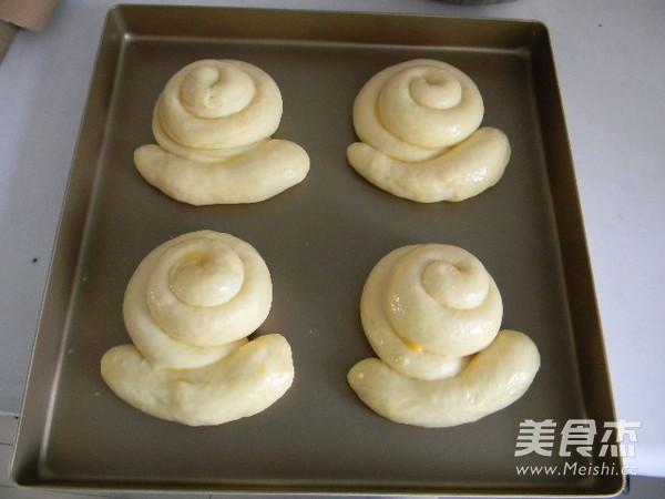 奶黄馅蜗牛面包怎样做
