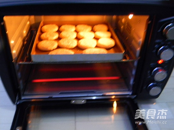 芝麻椰香糖酥饼的制作大全