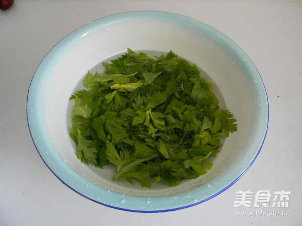 蒜香蒸芹菜叶的做法大全