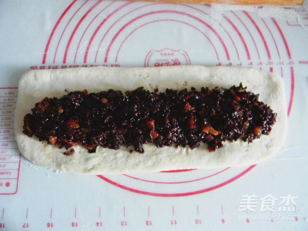 腊肉糯米卷的制作