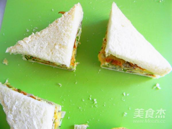 蛋香芝士三明治怎样炒