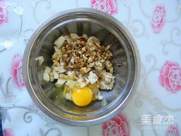 香蕉核桃鸡蛋饼的家常做法