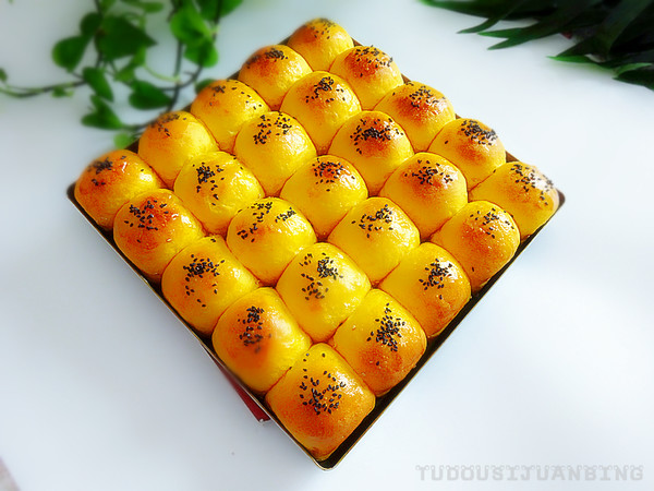 胡萝卜脆底排包成品图