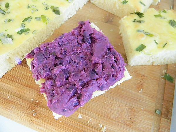 紫薯面包块怎么做
