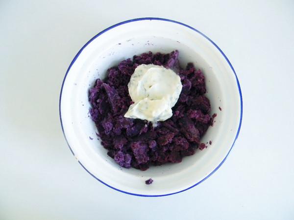 紫薯面包块的简单做法