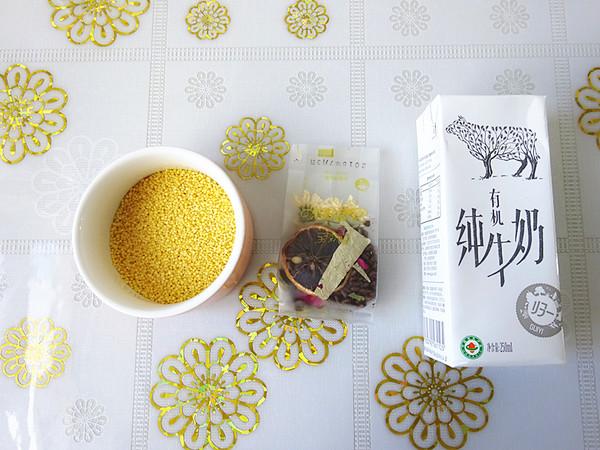 米香花果奶茶的做法大全