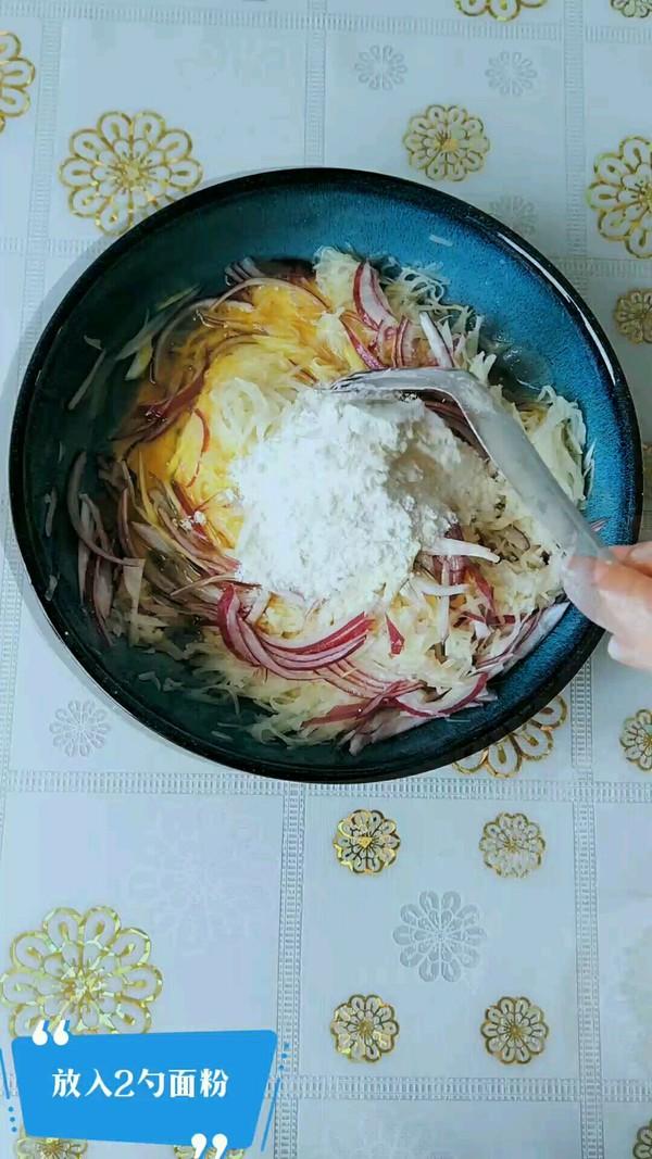 葱香土豆丝饼的家常做法