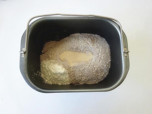 黑全麦低油吐司的做法图解