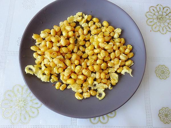 炸黄豆怎么吃