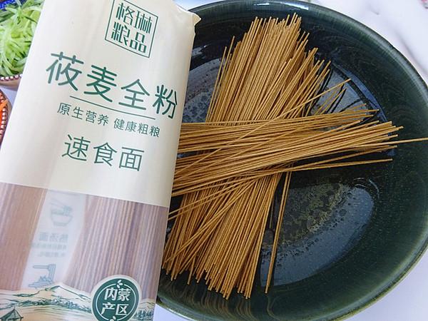凉拌莜麦面的做法图解