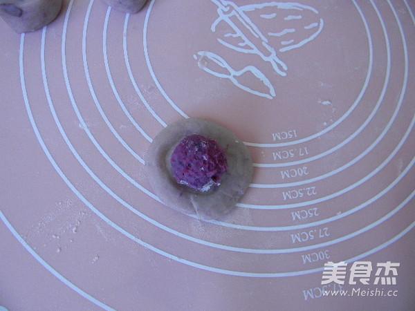 沙拉紫薯酥的制作方法
