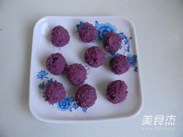 沙拉紫薯酥的简单做法