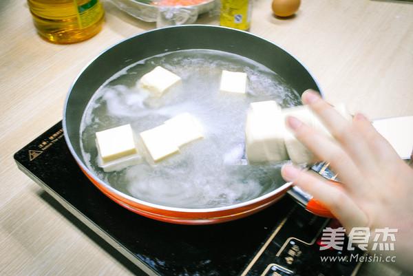虾仁香菇豆腐酿的做法图解
