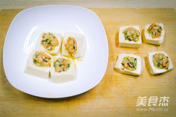 虾仁香菇豆腐酿怎么做